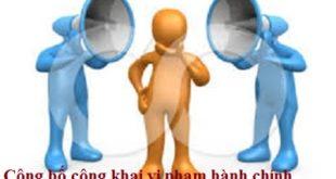 Cong khai vi pham hanh chinh