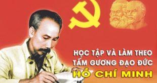Học tập làm theo tư tưởng, tấm gương đạo đức Hồ Chí Minh