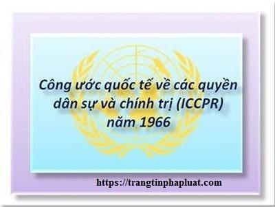 Slide bài giảng công ước quốc tế về các quyền dân sự chính trị