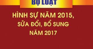 Bài giảng Bộ luật hình sự 2015 sửa đổi, bổ sung 2017