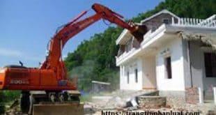 Cưỡng chế phá dỡ công trình xây dựng vi phạm