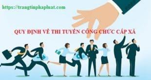Quy định về tiêu chuẩn và tuyển dụng cán bộ, công chức cấp xã tỉnh Quảng Nam