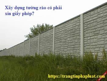 xây dựng tường rào trên đất nông nghiệp