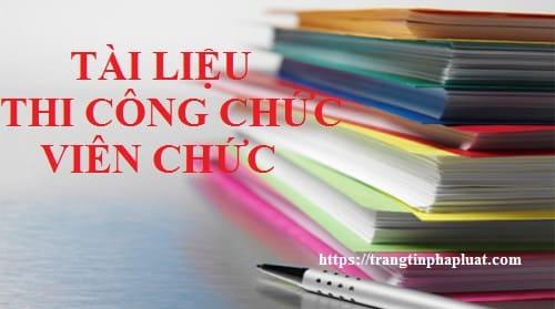 Tài liệu thi tuyển viên chức đơn vị sự nghiệp công lập huyện Tuy Phước tỉnh Bình Định