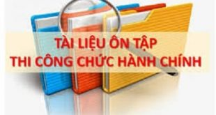Tài liệu thi công chức hành chính tỉnh Nghệ An