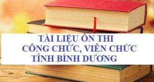 Bộ câu hỏi trắc nghiệm thi công chức xã của thị xã Tân Uyên, Bình Dương
