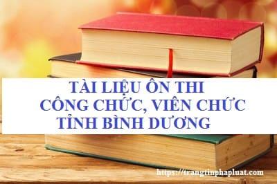 Bộ câu hỏi trắc nghiệm thi công chức xã của huyện Phú Giao, Bình Dương