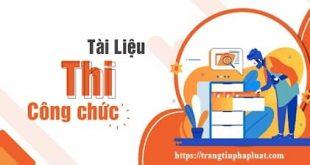 Bộ tài liệu ôn thi công chức tỉnh Bình Phước năm 2020
