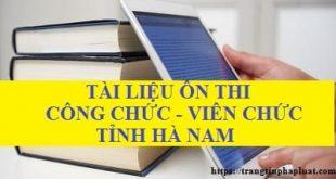 Bộ câu hỏi ôn thi công chức tỉnh Hà Nam năm 2020