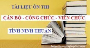 Tài liệu ôn thi thăng hạng cán bộ, công chức lên chuyên viên chính tỉnh Ninh Thuận