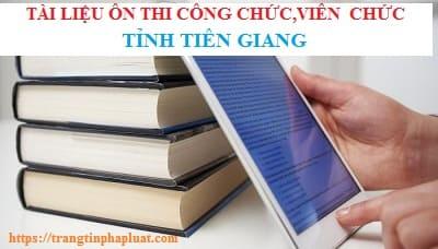 Tài liệu ôn thi kiến thức chung thi công chức tỉnh Tiền Giang 2020