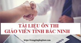 Tài liệu ôn thi kiến thức chung thi tuyển giáo viên năm 2020 tỉnh Bắc Ninh