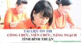 Tài liệu ôn thi công chức hành chính tỉnh Bình Thuận 2021