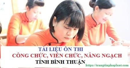 Tài liệu ôn thi thăng hạng viên chức tỉnh Bình Thuận 2020