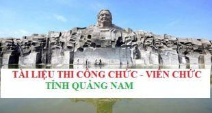 Tài liệu ôn thi công chức, viên chức tỉnh Quảng Nam