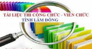 Bộ câu hỏi thi công chức tỉnh Lâm Đồng 2020