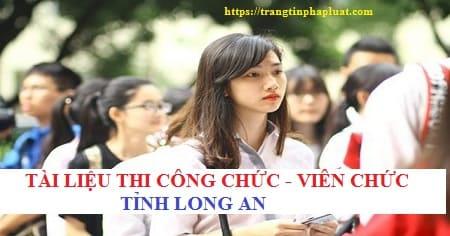 Tài liệu thi giáo viên tỉnh Long An năm 2020