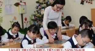 Tài liệu xét thăng hạng giáo viên tỉnh An Giang 2020