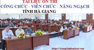 Tài liệu ôn thi công chức tỉnh Hà Giang 2020