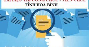Tài liệu ôn thi viên chức tỉnh Hòa Bình 2020
