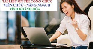 Tài liệu ôn thi nâng ngạch công chức, thăng hạng viên chức tỉnh Khánh Hòa
