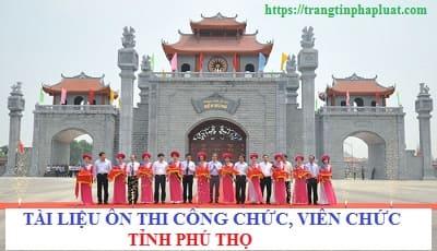 Tài liệu ôn thi công chức tỉnh Phú Thọ 2020