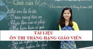 Tài liệu ôn thi thăng hạng giáo viên tỉnh Long An 2020