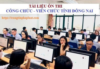 Bộ câu hỏi ôn thi công chức xã huyện Trảng Bom, Đồng Nai 2020