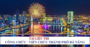 Tài liệu ôn thi công chức phường của quận Ngũ Hành Sơn, Đà Nẵng