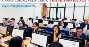 Bộ câu hỏi thi công chức Thành phố Hà Nội 2020