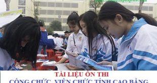 Tài liệu thi công chức, viên chức tỉnh Cao Bằng