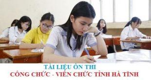 Tài liệu thi giáo viên mầm non, tiểu học tỉnh Hà Tĩnh