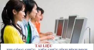 Tài liệu ôn thi công chức, viên chức Ngành tỉnh Bình Định 2021