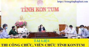 Tài liệu ôn thi công chức tỉnh Kon Tum