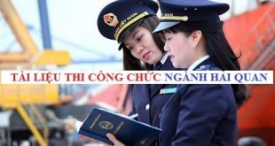 Tài liệu ôn thi công chức Tổng cục Hải quan năm 2021