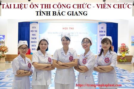 Tài liệu thi thăng hạng chức danh nghề nghiệp tỉnh Bắc Giang 2021
