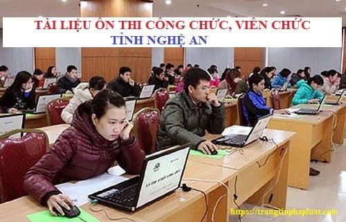 Tài liệu ôn thi nâng ngạch chuyên viên chính tỉnh Nghệ An