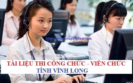 Tài liệu thi công chức cấp xã thành phố Vĩnh Long, Tỉnh Vĩnh Long